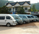 Vans that offer land transfer to tourists by Lantaresort.com